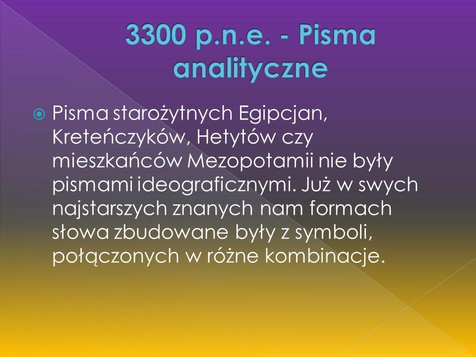  Pisma fonetyczne-sylabiczne (sylabariusze) to takie zespoły symboli fonetycznych, w których poszczególne znaki są znakami samogłosek lub sylab, połączonych tak by przekazywały słowo mówione.