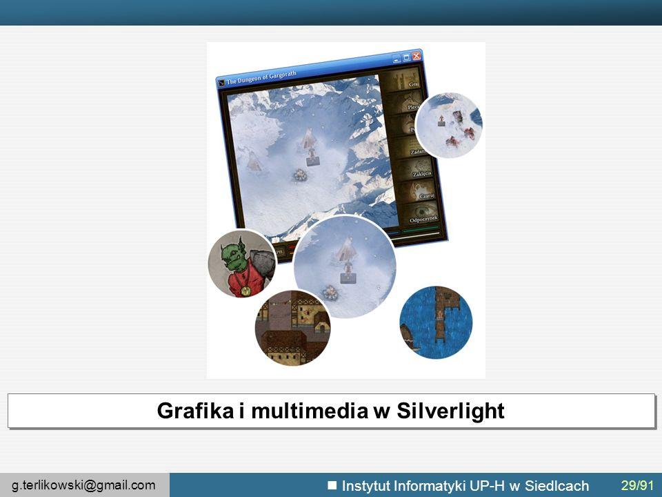 g.terlikowski@gmail.com Instytut Informatyki UP-H w Siedlcach Grafika i multimedia w Silverlight 29/91