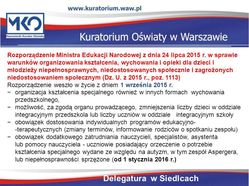 Rozporządzenie Ministra Edukacji Narodowej z dnia 24 lipca 2015 r.