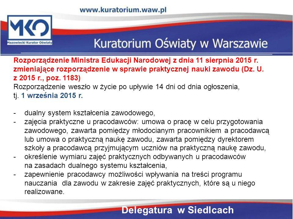 Rozporządzenie Ministra Edukacji Narodowej z dnia 11 sierpnia 2015 r.