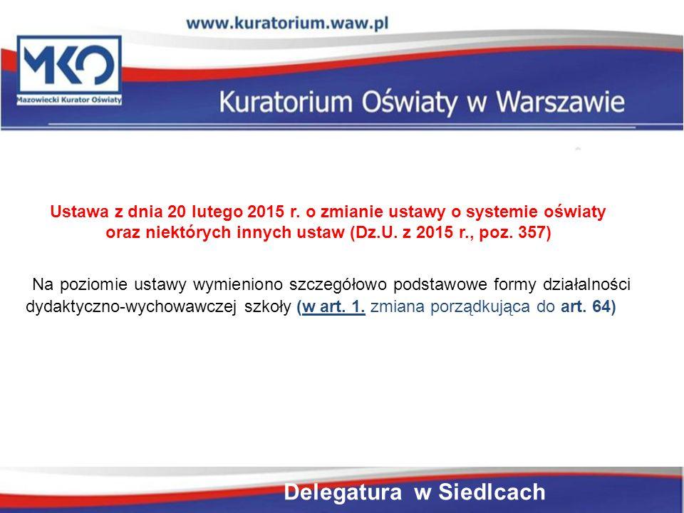 Rozporządzenie Ministra Edukacji Narodowej z dnia 21 sierpnia 2015 r.