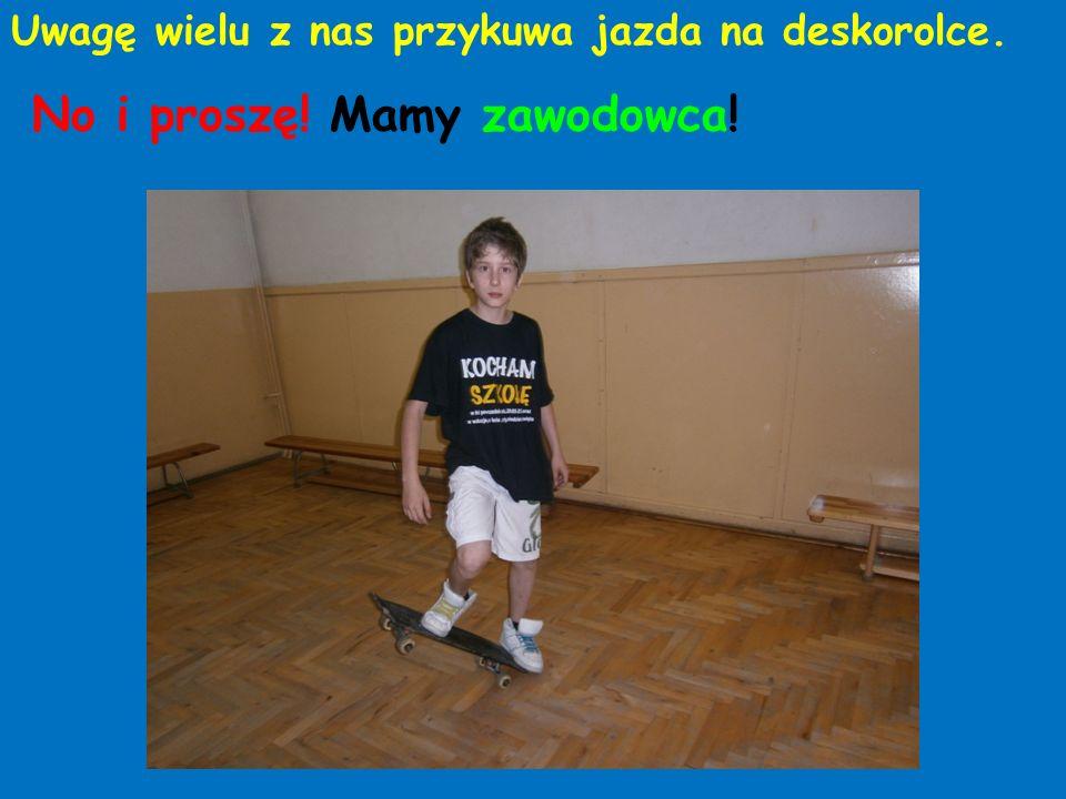 Niektórzy z nas trenują siatkówkę i … … miękkie lądowanie Brawa dla Szymonka, Piotrusia i Kamilka.
