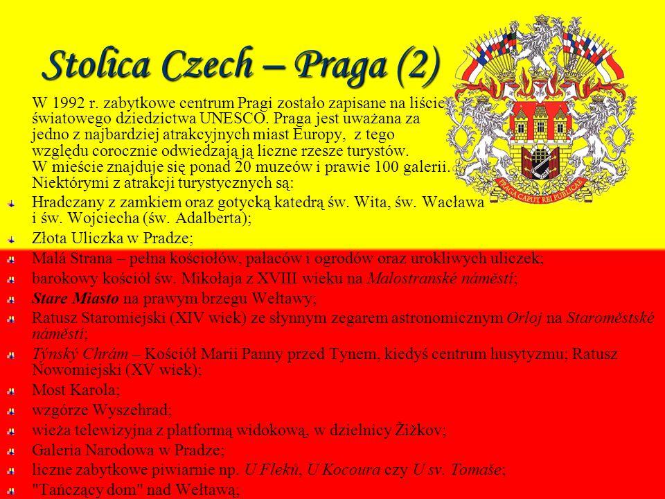 Stolica Czech – Praga (2) W 1992 r.