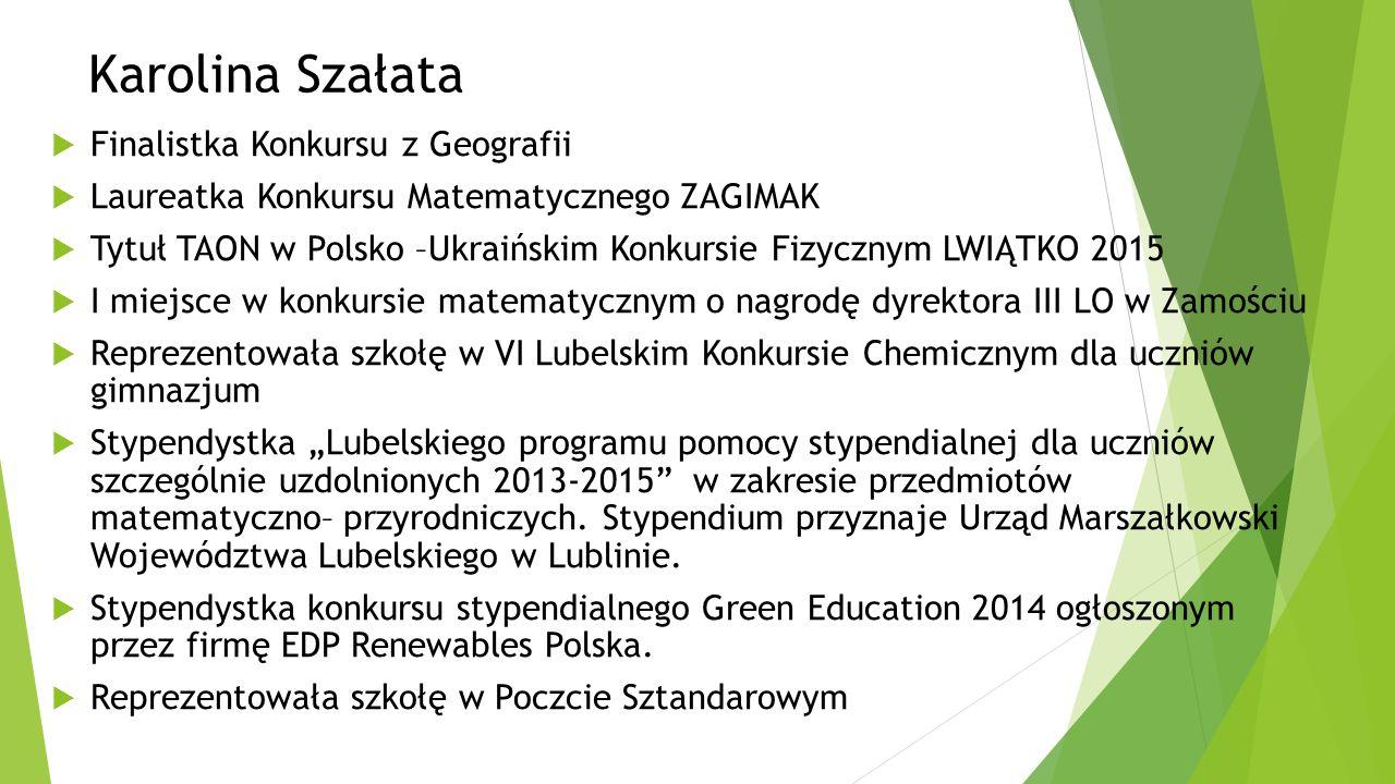 Uczniowie z najwyższą średnią ocen z klasy IIIa KAROL CISAK Średnia ocen 5,39 Finalista konkursu z Geografii Przewodniczący Samorządu Uczniowskiego