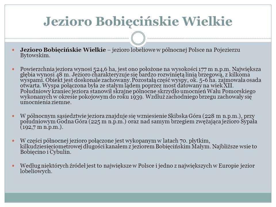 Jezioro Bobięcińskie Wielkie Jezioro Bobięcińskie Wielkie – jezioro lobeliowe w północnej Polsce na Pojezierzu Bytowskim. Powierzchnia jeziora wynosi