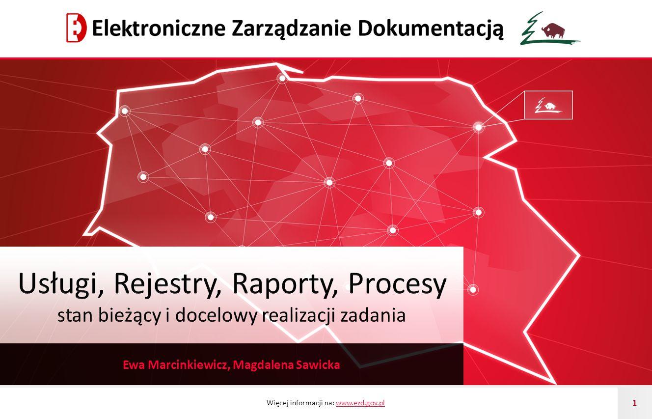 Więcej informacji na: www.ezd.gov.plwww.ezd.gov.pl 1 Ewa Marcinkiewicz, Magdalena Sawicka