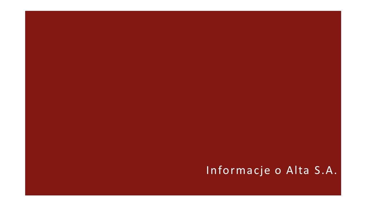 ALTA – SPÓŁKA INWESTYCYJNA ALTA S.A.jest jednostką inwestycyjną w rozumieniu MSSF 10.