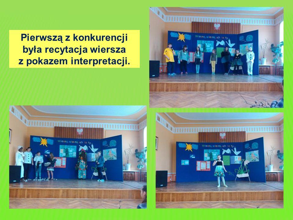 Pierwszą z konkurencji była recytacja wiersza z pokazem interpretacji.