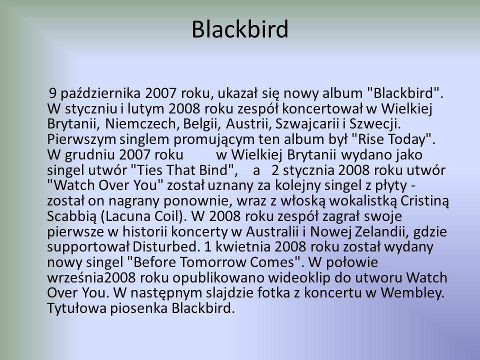 Blackbird 9 października 2007 roku, ukazał się nowy album Blackbird .