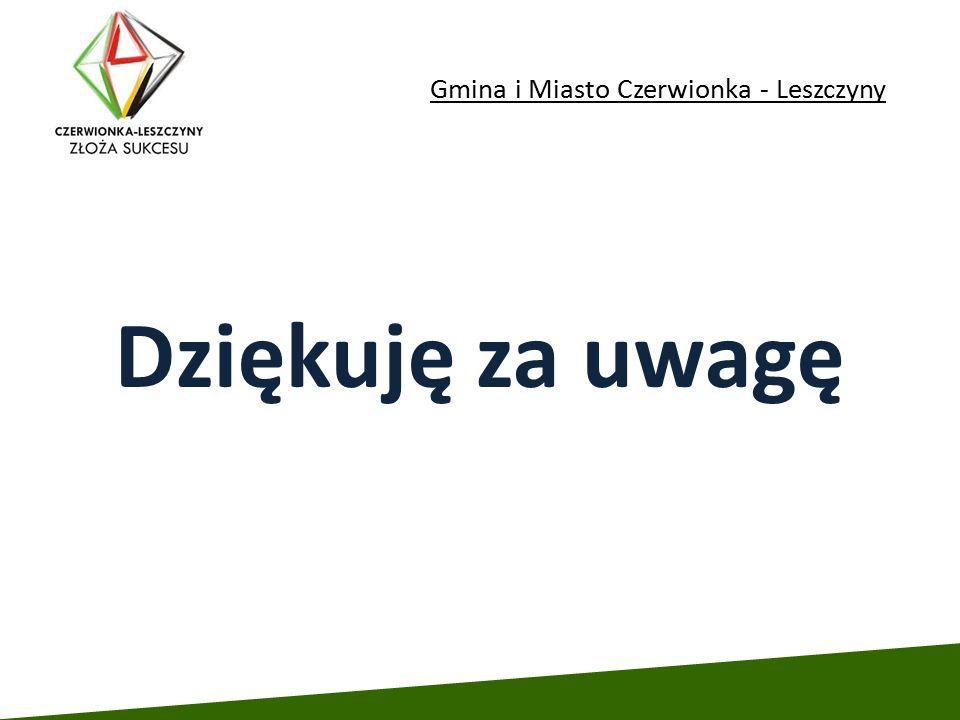 Gmina i Miasto Czerwionka - Leszczyny Dziękuję za uwagę
