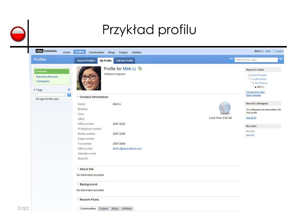 Slajd 29 Przykład profilu