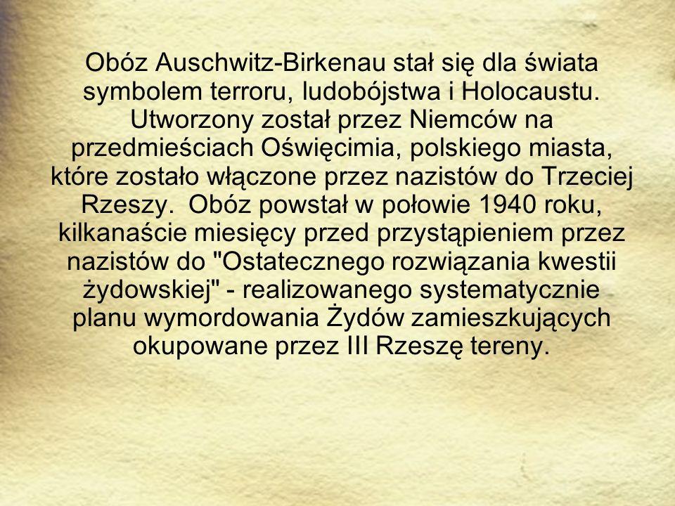Obóz Auschwitz-Birkenau stał się dla świata symbolem terroru, ludobójstwa i Holocaustu. Utworzony został przez Niemców na przedmieściach Oświęcimia, p