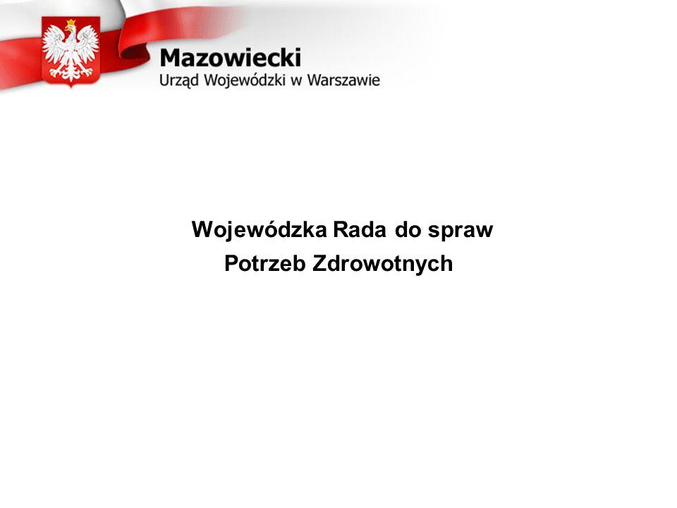 Powstanie Wojewódzkiej Rady do spraw Potrzeb Zdrowotnych: Art.