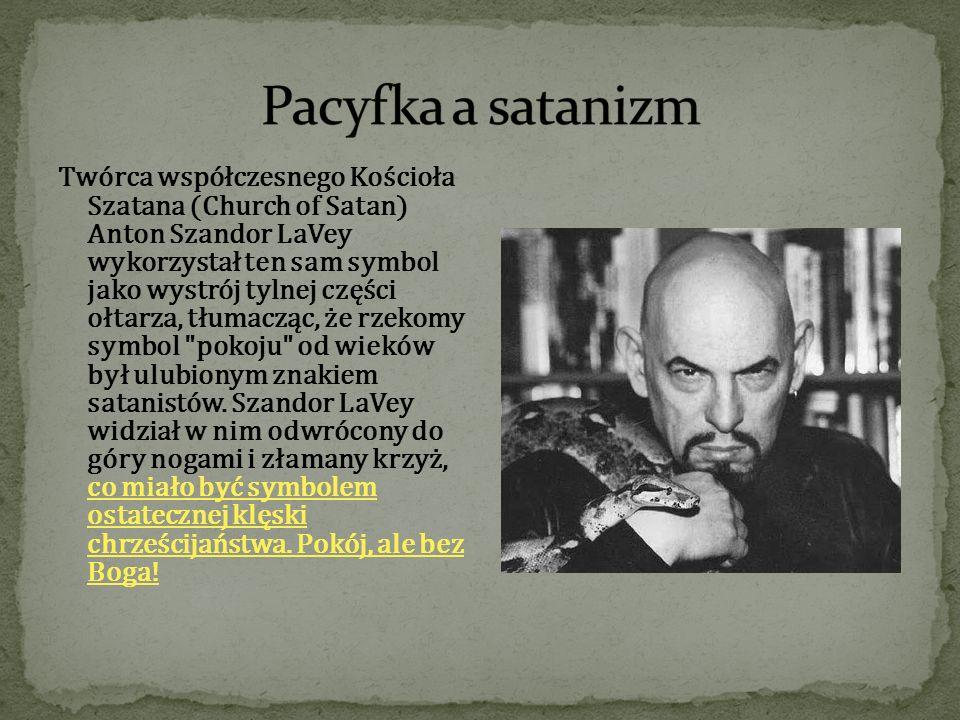 Twórca współczesnego Kościoła Szatana (Church of Satan) Anton Szandor LaVey wykorzystał ten sam symbol jako wystrój tylnej części ołtarza, tłumacząc,