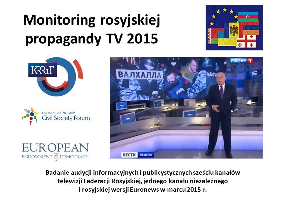 Monitoring rosyjskiej propagandy TV 2015 Badanie audycji informacyjnych i publicystycznych sześciu kanałów telewizji Federacji Rosyjskiej, jednego kanału niezależnego i rosyjskiej wersji Euronews w marcu 2015 r.