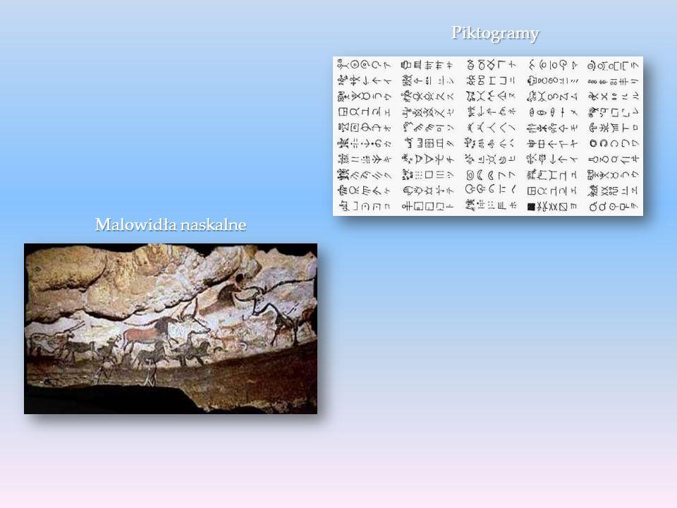 Malowidła naskalne Piktogramy