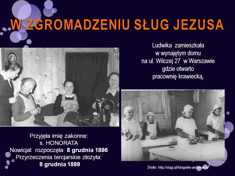 Żródło: http://slugi.pl/fotografie-archiwalne / Ludwika zamieszkała w wynajętym domu na ul. Wilczej 27 w Warszawie gdzie otwarto pracownię krawiecką.