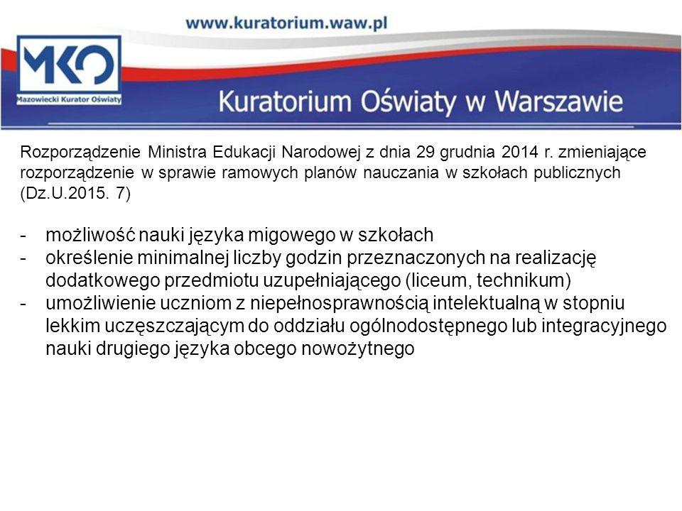Zmiana rozporządzenia w sprawie praktycznej nauki zawodu 19 Rozporządzenie Ministra Edukacji Narodowej z dnia 6 sierpnia 2015r.