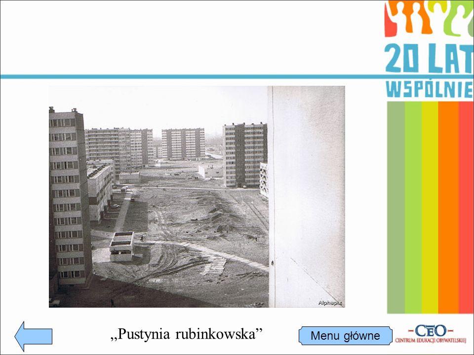 """""""Pustynia rubinkowska Menu główne"""