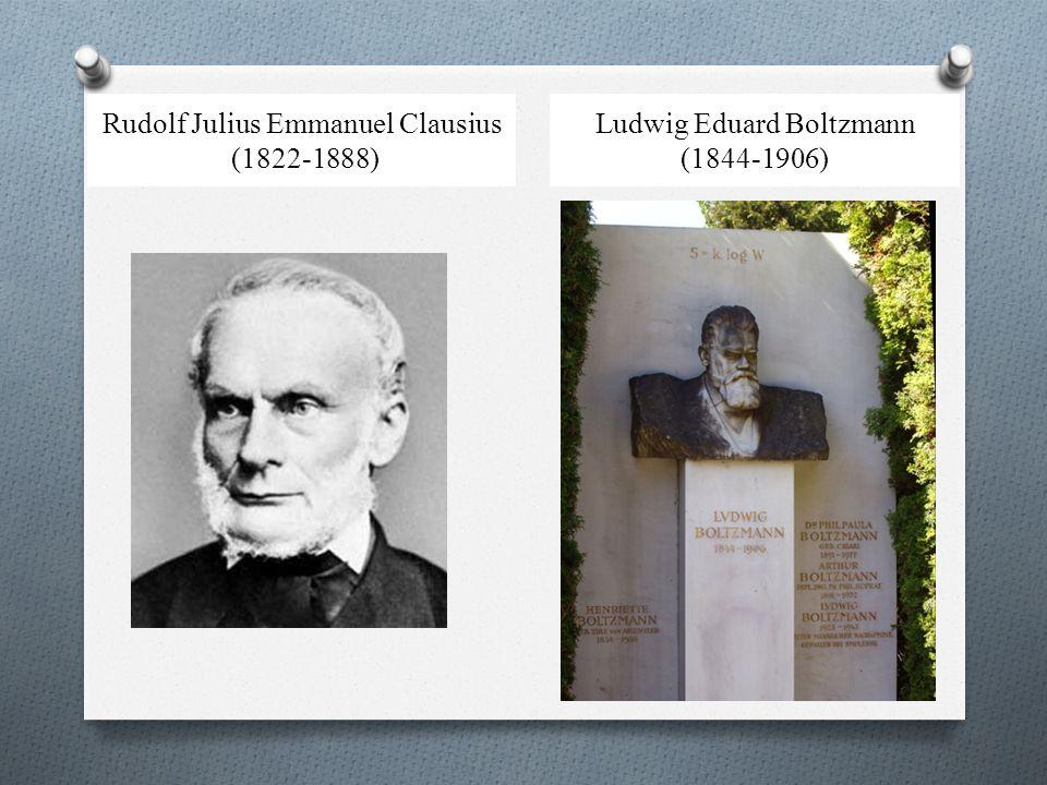 Rudolf Julius Emmanuel Clausius (1822-1888) Ludwig Eduard Boltzmann (1844-1906)
