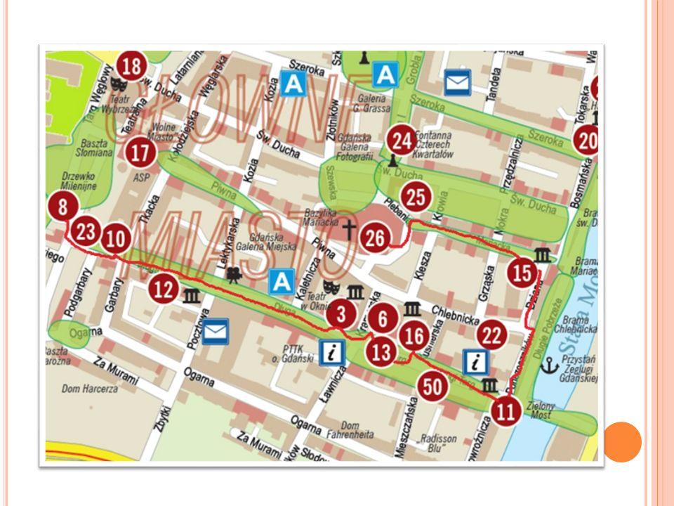 Spacer rozpoczynamy od Muzeum Bursztynu (8), przy ulicy Targ Węglowy 26.