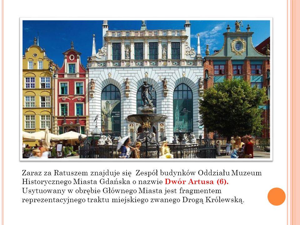 Stojąca od 1633 r.przed Dworem Artusa Fontanna Neptuna (13) jest symbolem Gdańska.
