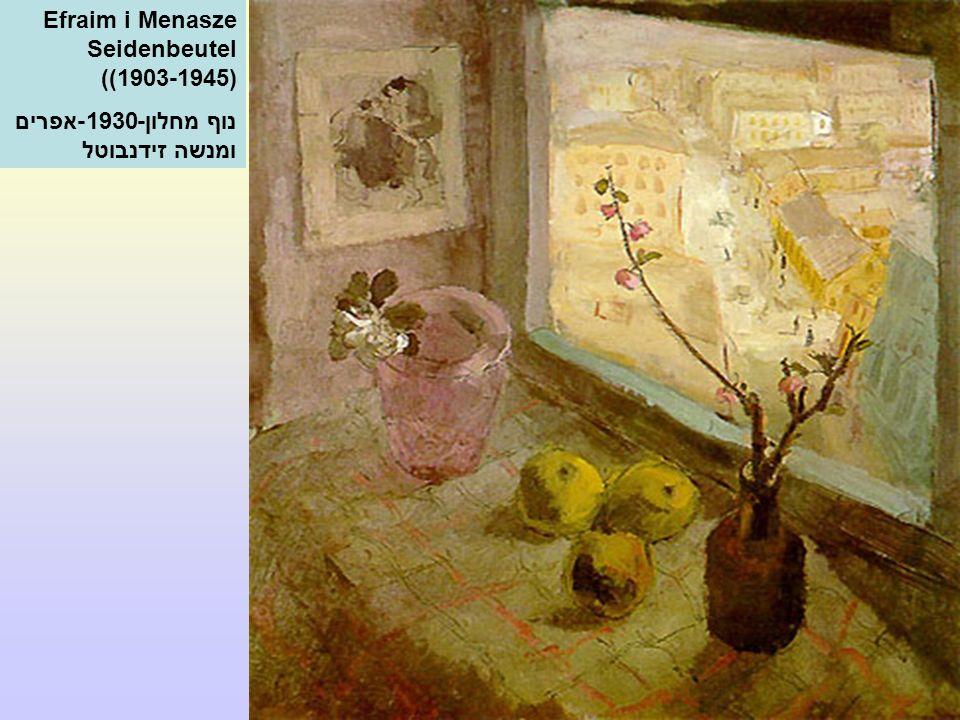Efraim i Menasze Seidenbeutel ((1903-1945) נוף מחלון-1930-אפרים ומנשה זידנבוטל