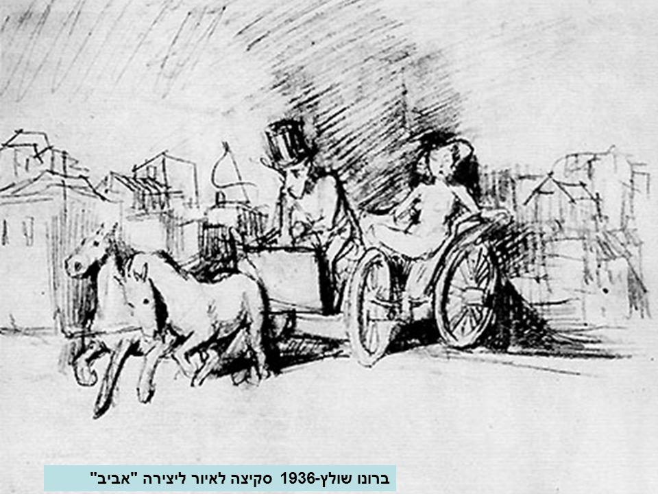 ברונו שולץ-1936 סקיצה לאיור ליצירה