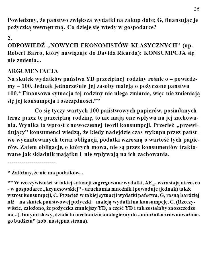 "25 3.2. SPORY WOKÓŁ ""RÓWNOWAŻNOŚCI RICARDIAŃSKIEJ (ang."