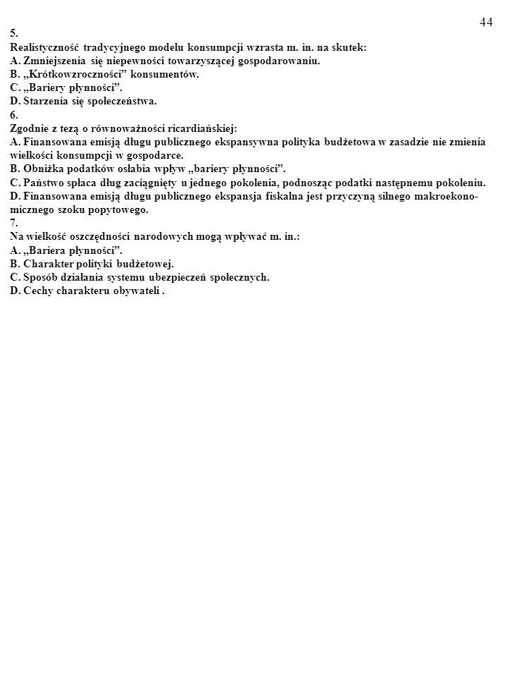 43 Test (Plusami i minusami zaznacz prawdziwe i fałszywe odpowiedzi) 1.