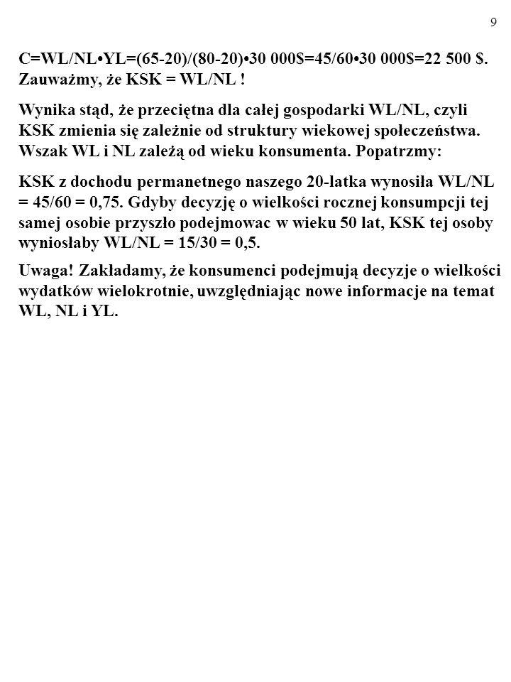 9 C=WL/NLYL=(65-20)/(80-20)30 000$=45/6030 000$=22 500 $.