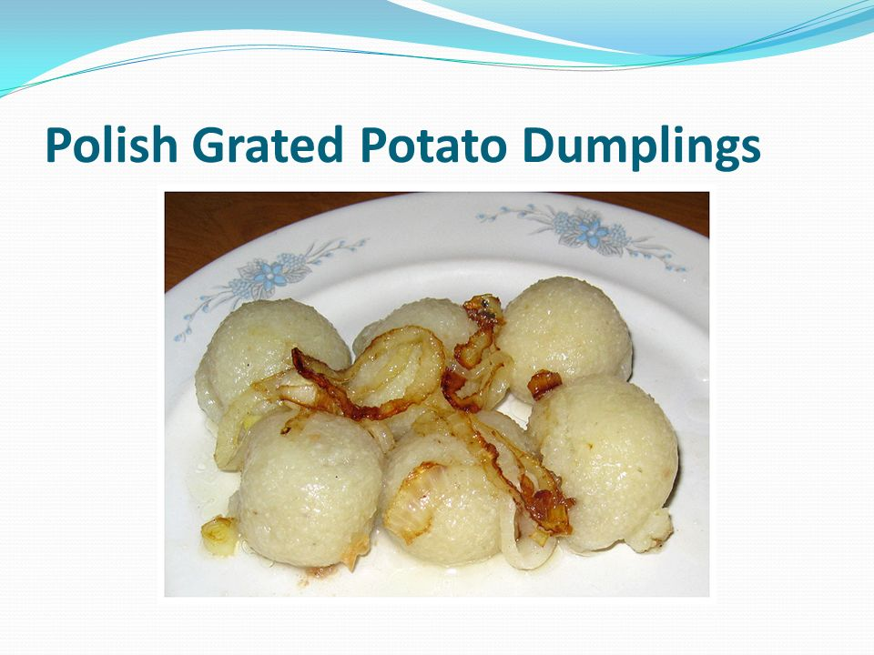 Polish Grated Potato Dumplings