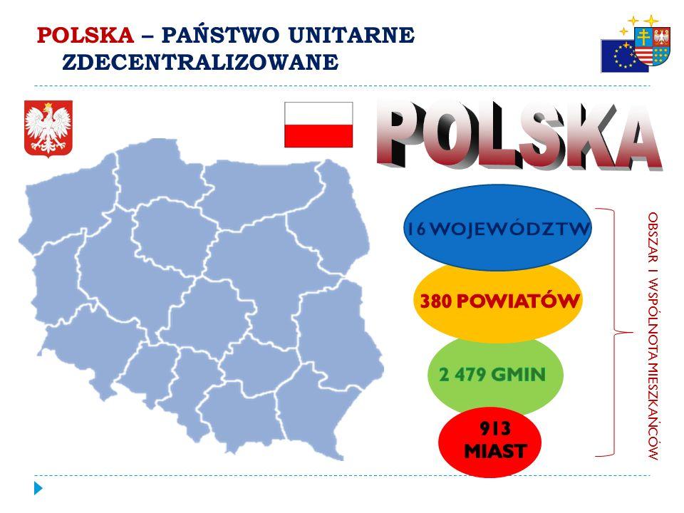 """PODZIAŁ TERYTORIALNY POLSKI HISTORIA:  1990 – utworzenie gmin  1 I 1999 – wprowadzono trójstopniowy podział terytorialny """"(…) siłą województw będzie ich wielkość."""