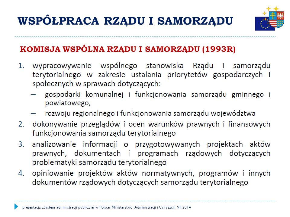 """PRACOWNICY SAMORZĄDOWI prezentacja """"System administracji publicznej w Polsce, Ministerstwo Administracji i Cyfryzacji, VII 2014"""