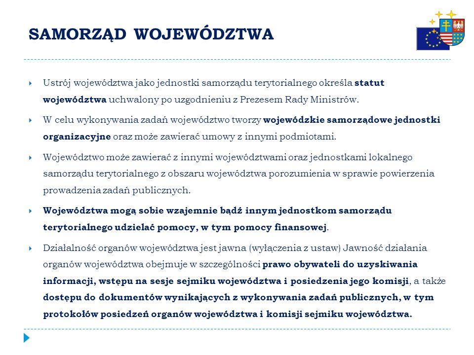 ZAKRES DZIAŁALNOŚCI WOJEWÓDZTWA ART. 14. 1.