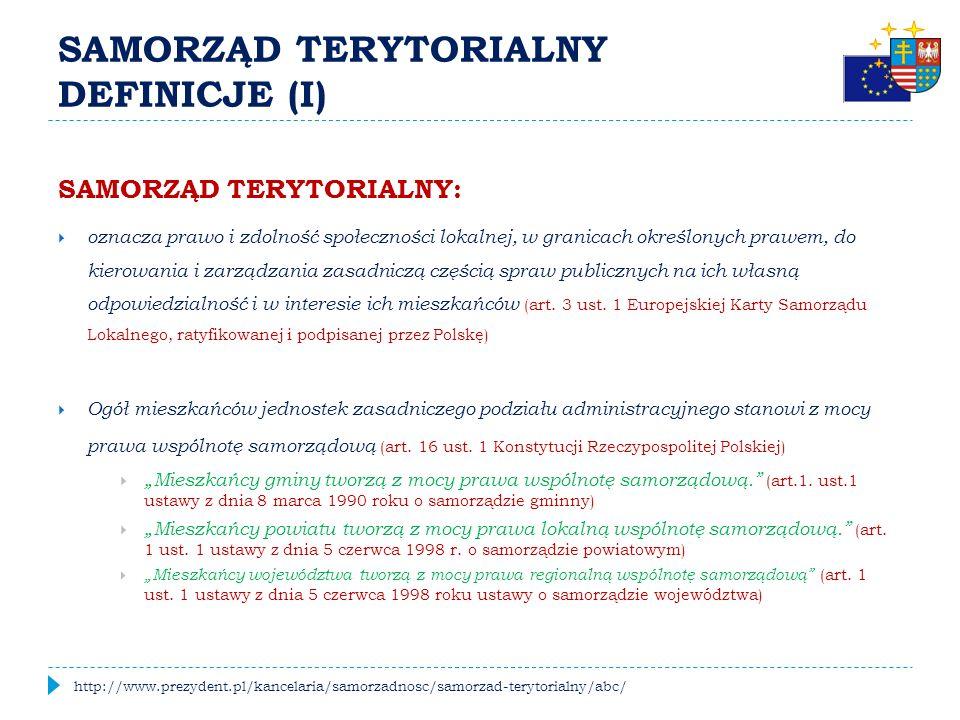 """DOKĄD ZMIERZA POLSKI SAMORZĄD TERYTORIALNY.Prezentacja """"Samorządy terytorialne w Polsce."""