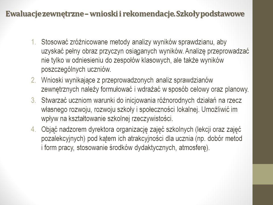 Ewaluacje zewnętrzne – wnioski i rekomendacje.