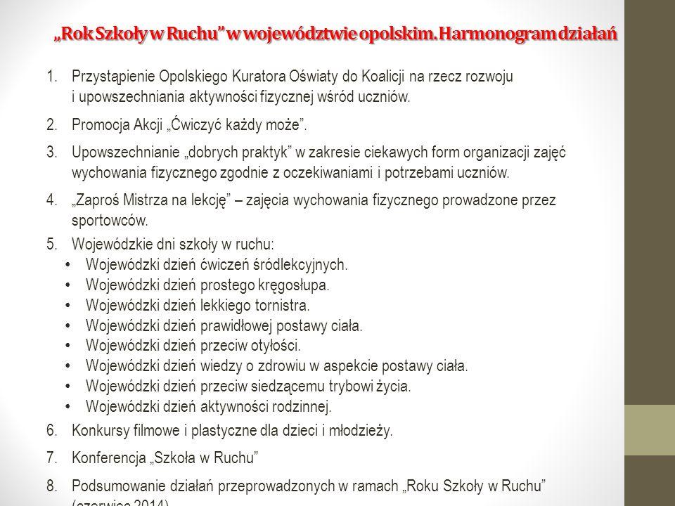 """""""Rok Szkoły w Ruchu w województwie opolskim."""