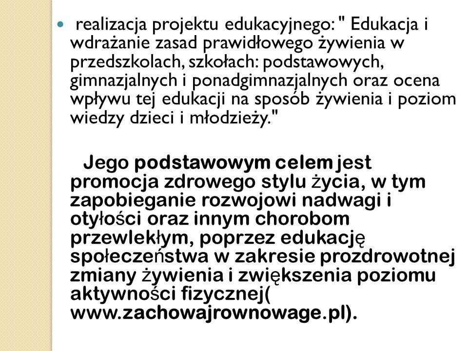 realizacja projektu edukacyjnego: