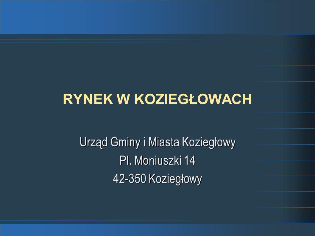 RYNEK W KOZIEGŁOWACH Urząd Gminy i Miasta Koziegłowy Pl. Moniuszki 14 42-350 Koziegłowy