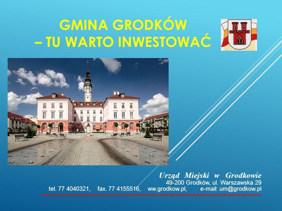 GMINA GRODKÓW – TU WARTO INWESTOWAĆ Urząd Miejski w Grodkowie 49-200 Grodków, ul. Warszawska 29 tel. 77 4040321, fax. 77 4155516, ww.grodkow.pl, e-mai