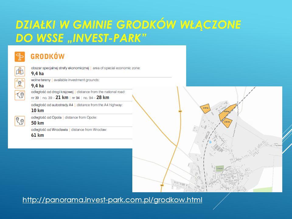 """DZIAŁKI W GMINIE GRODKÓW WŁĄCZONE DO WSSE """"INVEST-PARK"""" http://panorama.invest-park.com.pl/grodkow.html"""