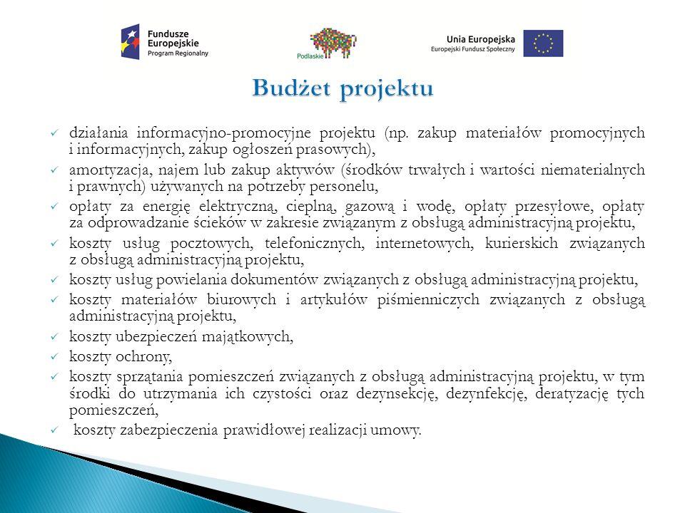 działania informacyjno-promocyjne projektu (np.