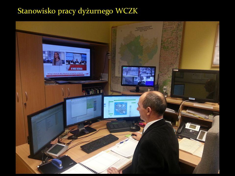 Stanowisko pracy dyżurnego WCZK