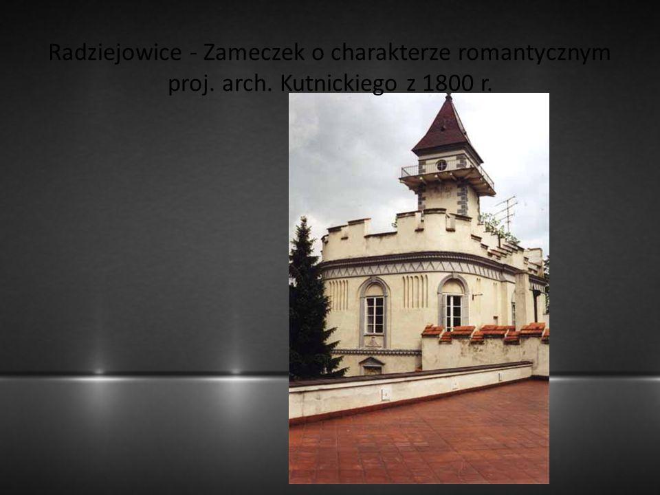Radziejowice - Zameczek o charakterze romantycznym proj. arch. Kutnickiego z 1800 r.