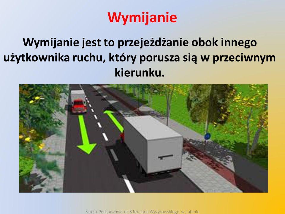 Wymijanie Warunkiem bezpiecznego wymijania jest zachowanie odpowiedniego odstępu między pojazdami.