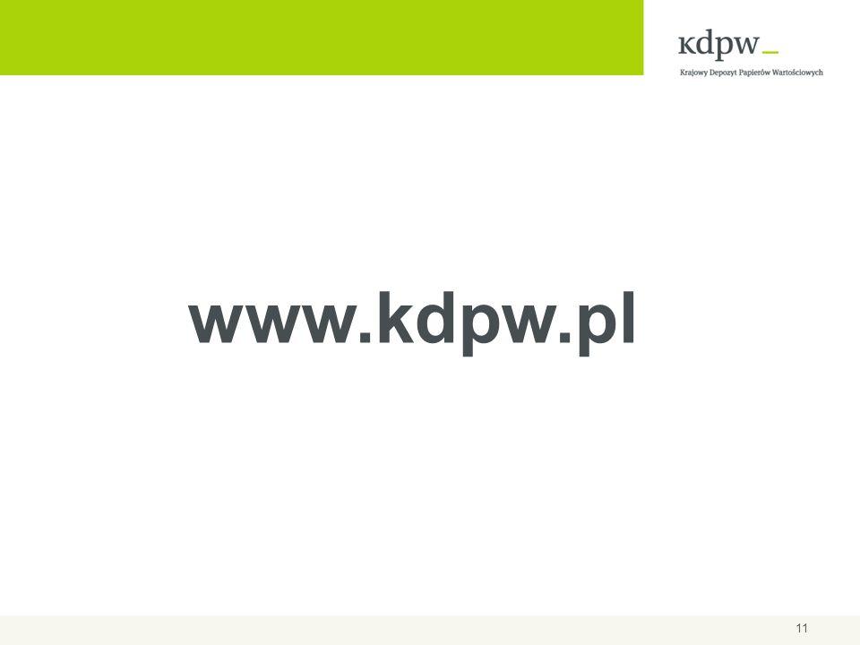 11 www.kdpw.pl