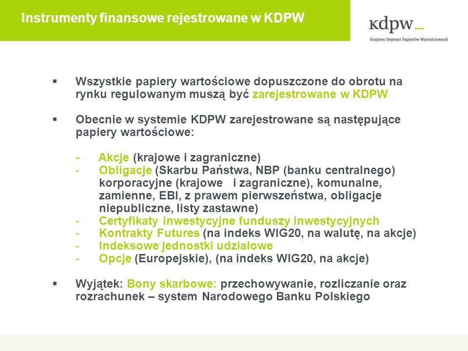 Strategia budowania połączeń operacyjnych Cele budowy nowych połączeń operacyjnych: rozliczanie rynków zagranicznych obsługiwanych przez rynki regulowane lub ASO w Polsce budowa międzynarodowej sieci operacyjnej i połączeń operacyjnych KDPW w odpowiedzi na potrzeby polskiego rynku, w szczególności w związku z podwójnym notowaniem papierów wartościowych na GPW i rynku macierzystym: –rynki kluczowe – połączenia bezpośrednie –pozostałe rynki – połączenia operacyjne za pośrednictwem ICSD lub banków.
