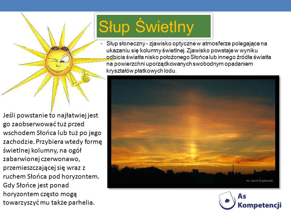 Słup Świetlny Słup Świetlny Słup słoneczny - zjawisko optyczne w atmosferze polegające na ukazaniu się kolumny świetlnej.