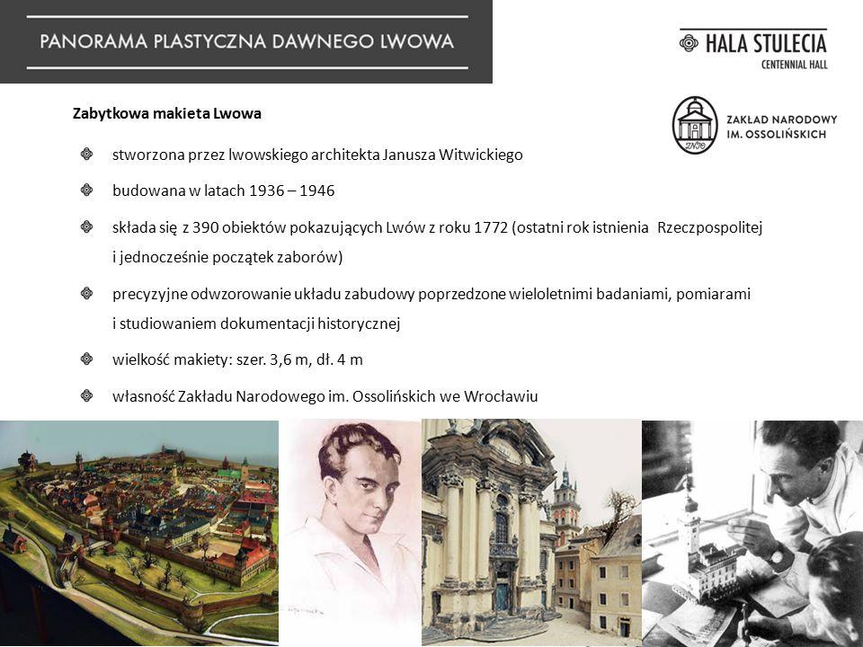 stworzona przez lwowskiego architekta Janusza Witwickiego budowana w latach 1936 – 1946 składa się z 390 obiektów pokazujących Lwów z roku 1772 (ostat